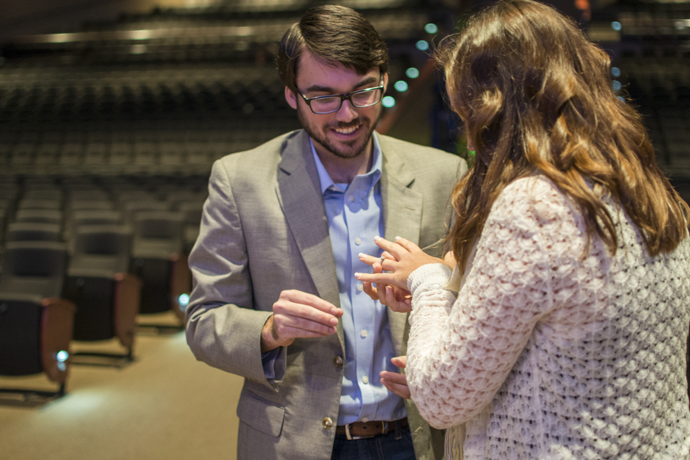 proposal at liberty baptist church in hampton, virginia