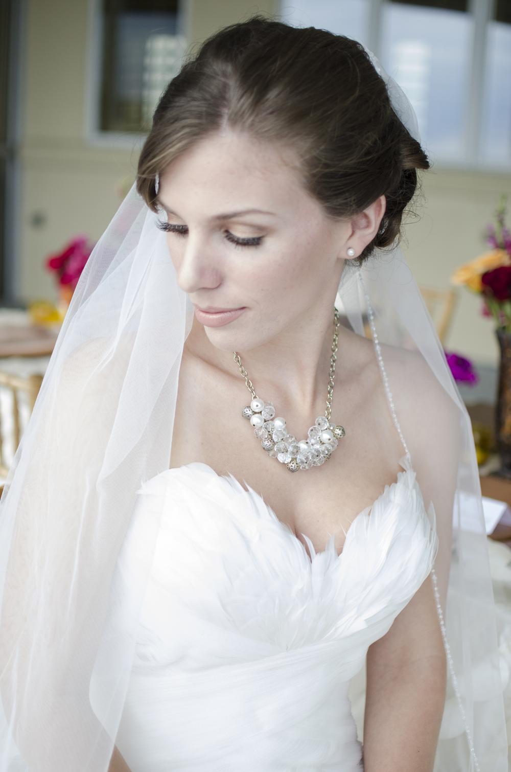 Annemarie Akins bride at Lesner Inn  Virginia Beach wedding photographer