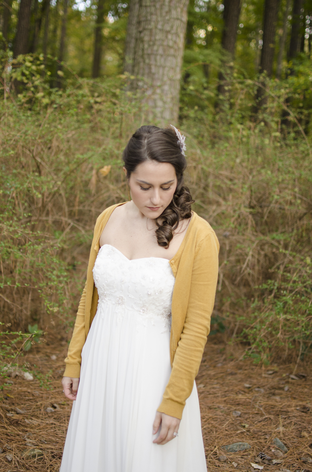 Bridal portraits in Red Wing Park, Virginia Beach