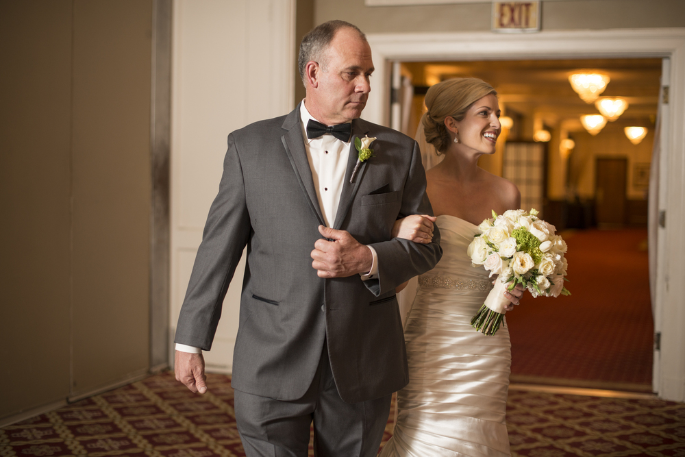 Wedding ceremony at Yorktowne Hotel in Lancaster, Pennyslvania