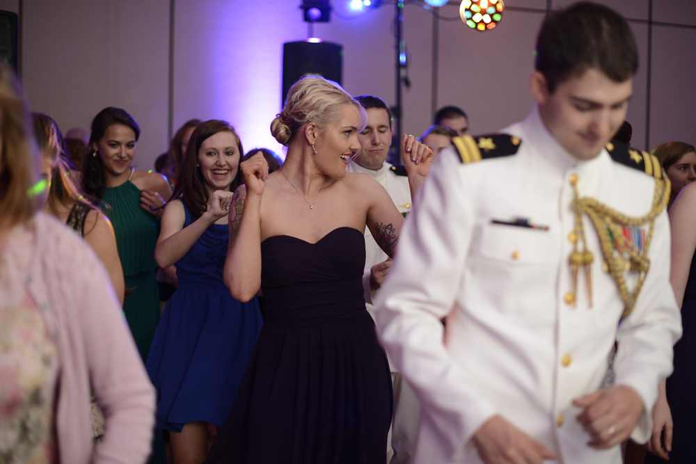 Dancing wedding guests at the reception | Maria Grace Photography