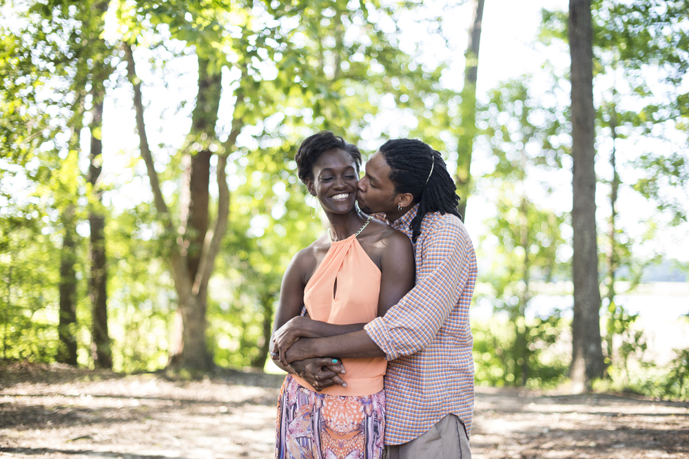 Anniversary portrait session at sunset in the woods of Suffolk, Virginia