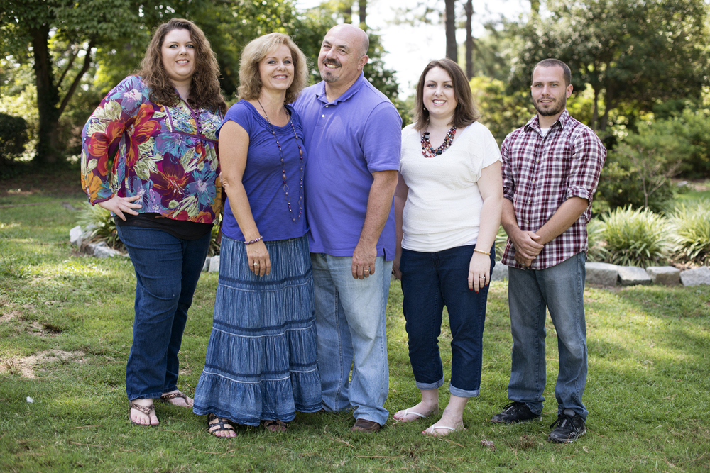 Parents with their grown up children at  family portraits in Portsmouth, Virginia