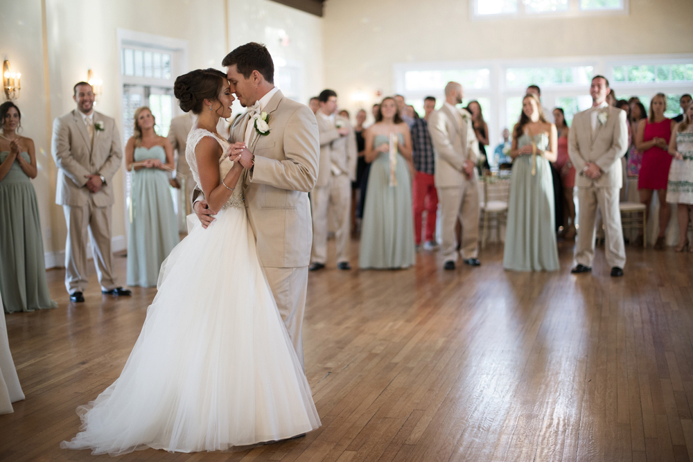 Bride and groom on the dance floor  | Portsmouth Woman's Club in Virginia