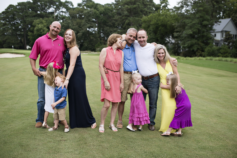 family portraits at Princess Anne Country Club Golf Course in Virginia Beach