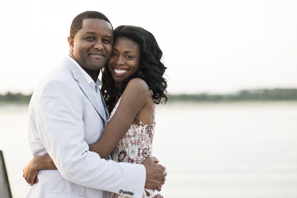 Intimate  Sunrise  engagement portraits at East Beach in Norfolk, Virginia
