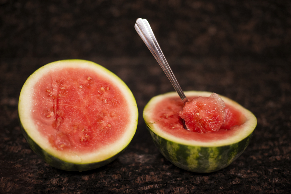 Fresh watermelon in summer 2014