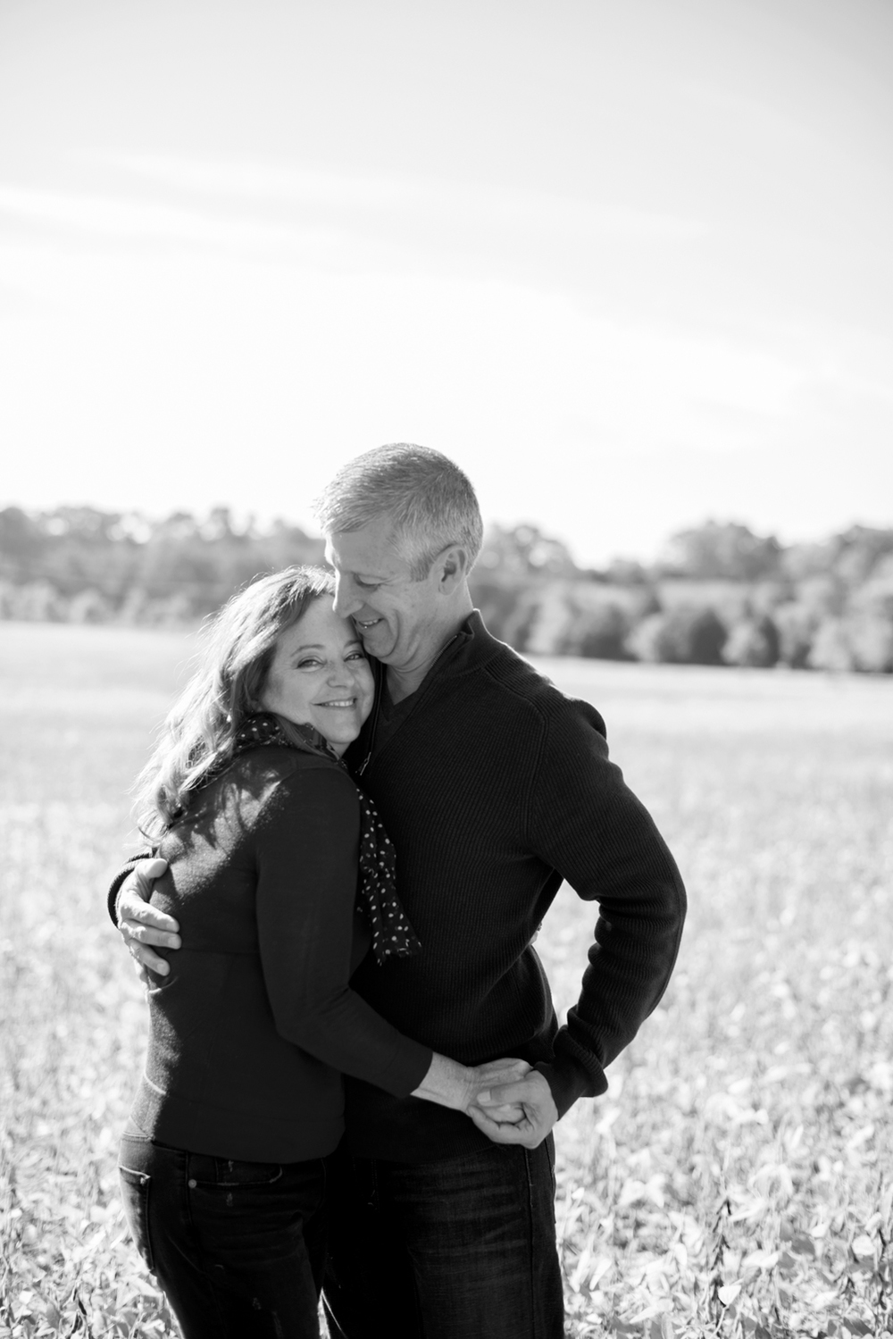 Windsor Castle Park couple's anniversary portraits in Smithfield, Virginia (black and white)