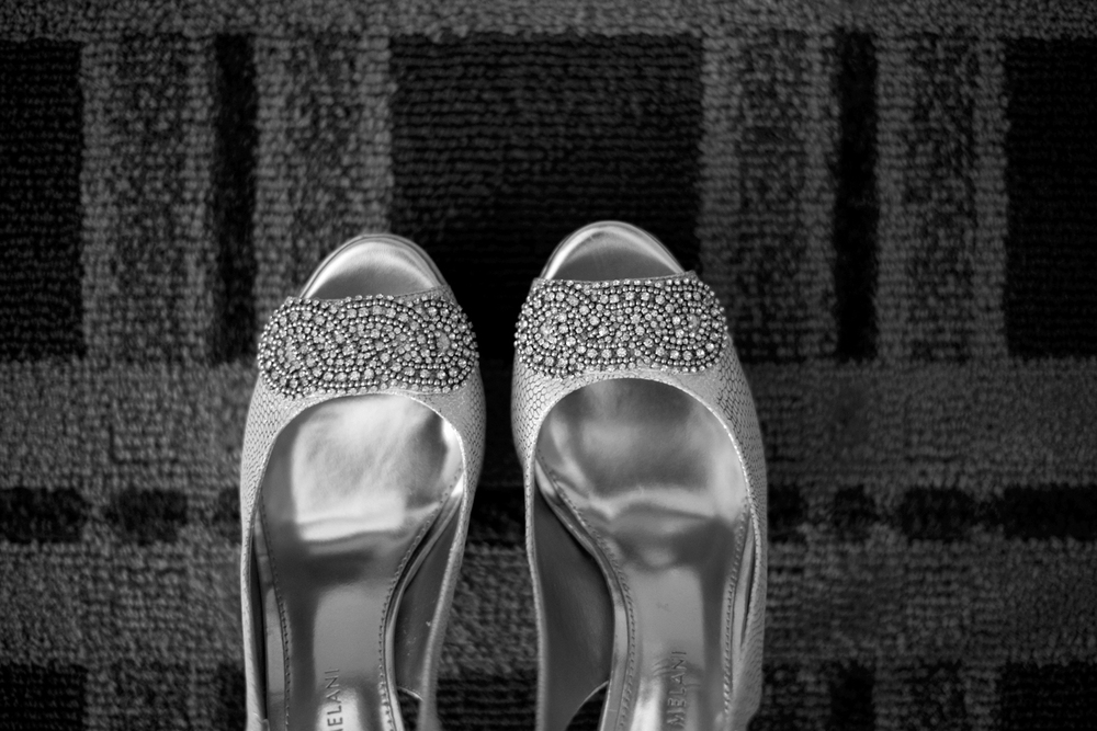 Detail shot of shoes | Fall hotel wedding in Virginia Beach