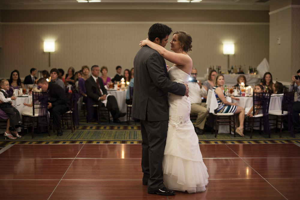 Bride & groom first dance | Fall hotel wedding in Virginia Beach