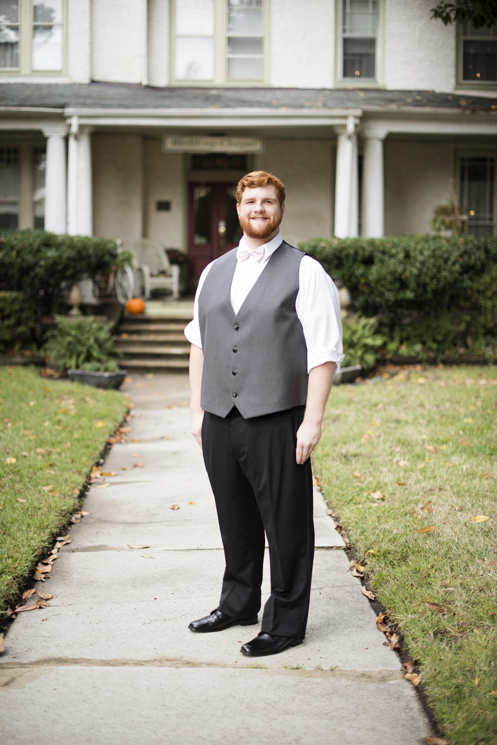 A groom before he elopes at the Magnolia House Inn in Hampton, Virginia