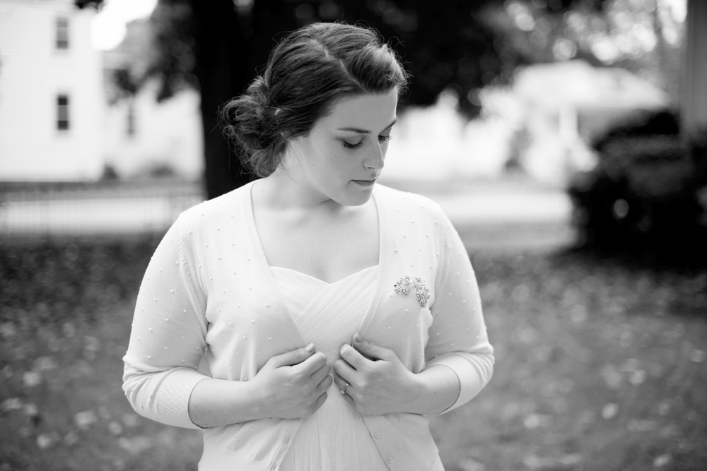 Bridal portraits before her elopement | Magnolia House Inn, Hampton, Virginia