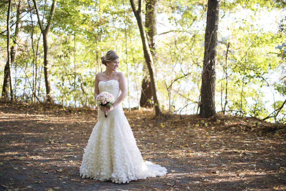 Fall bridal portraits in Chesapeake, Virginia