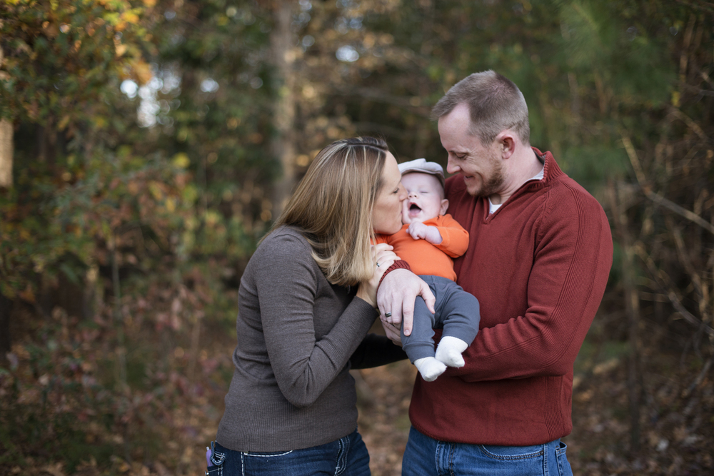 Fall family portraits ideas for family of three