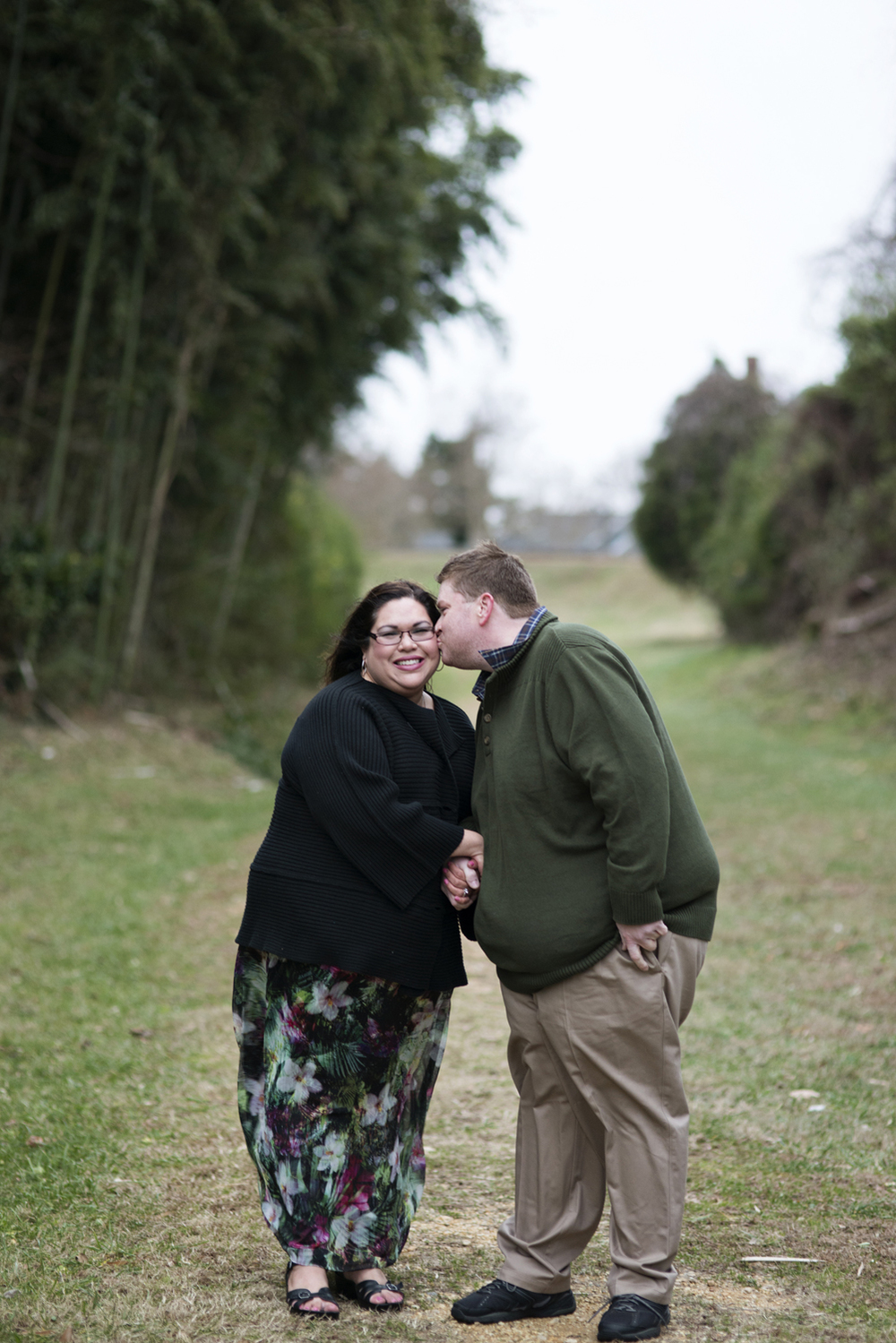 Winter engagement session in Virginia