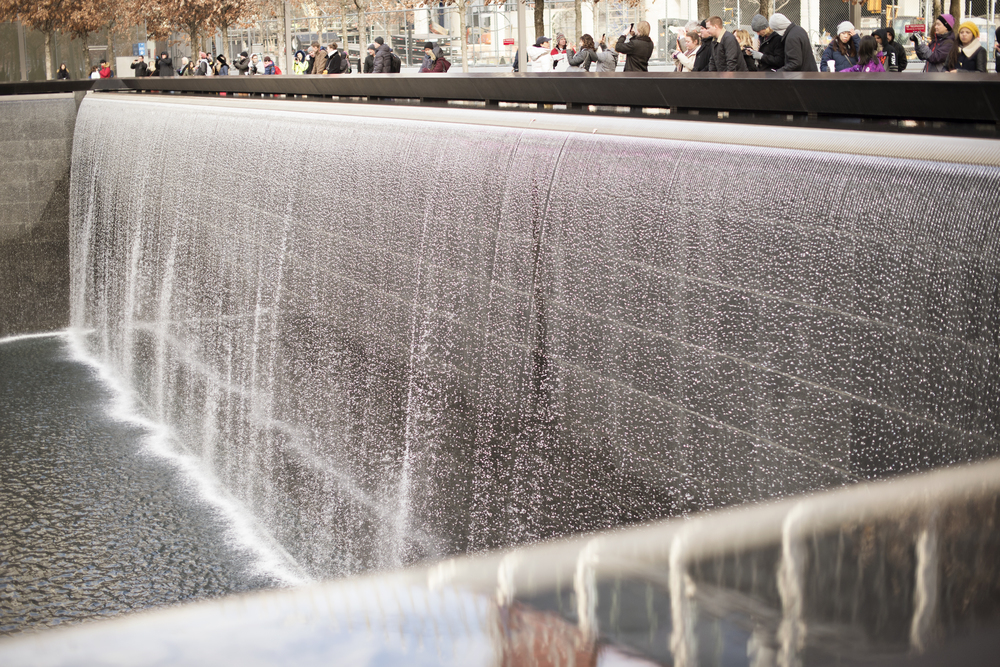 Fountain at the 9/11 Memorial in New York City