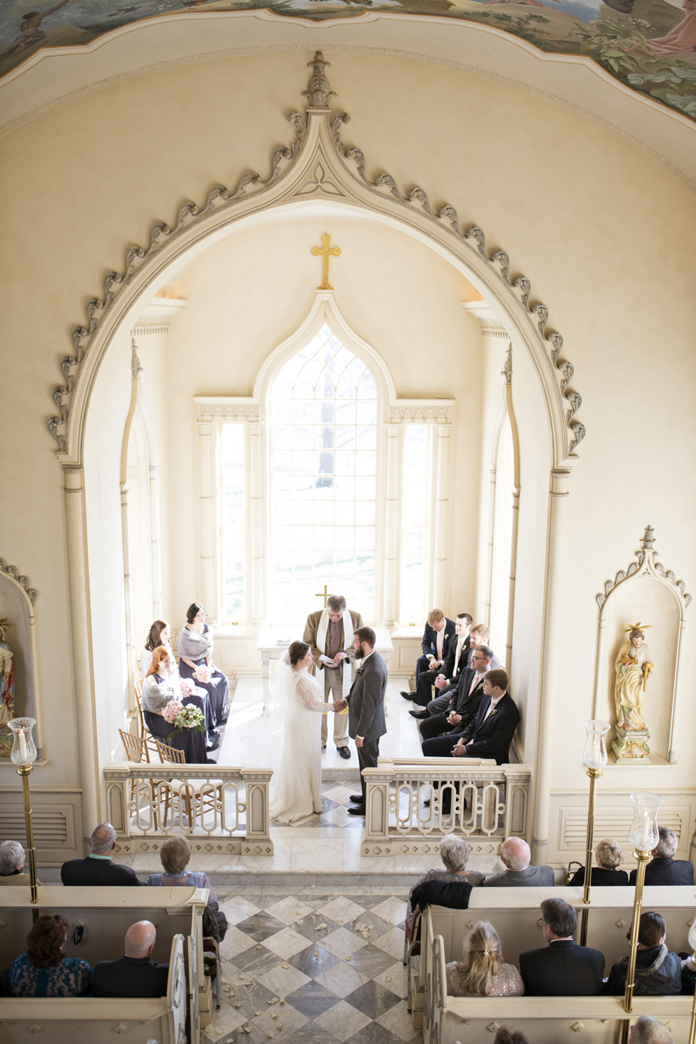 Gorgeous vineyard chapel wedding