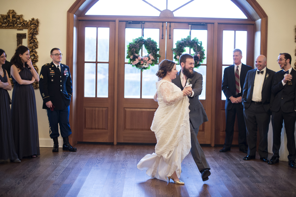 Choreographed first dance at a wedding