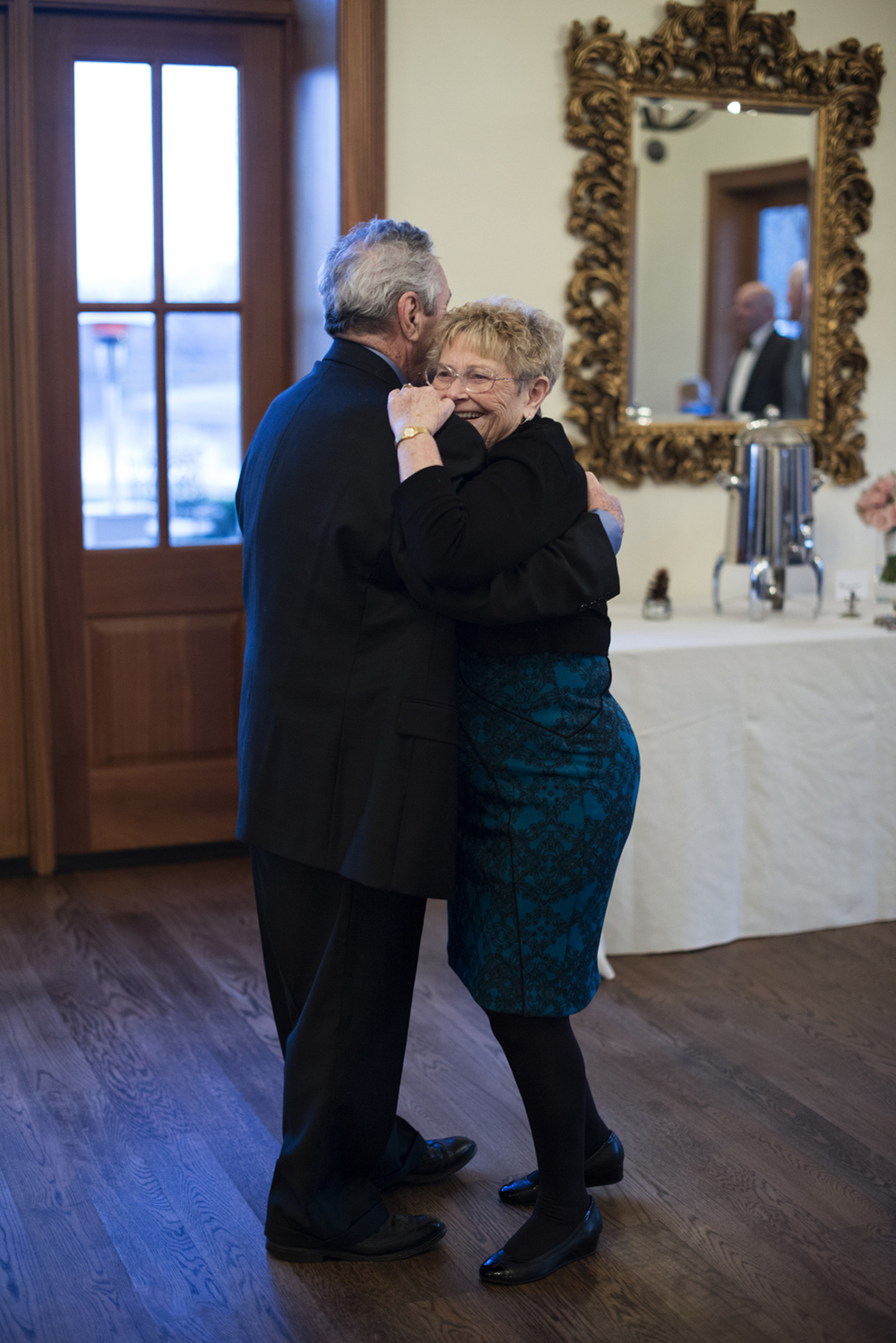 Longest married couple on the dance floor at a wedding