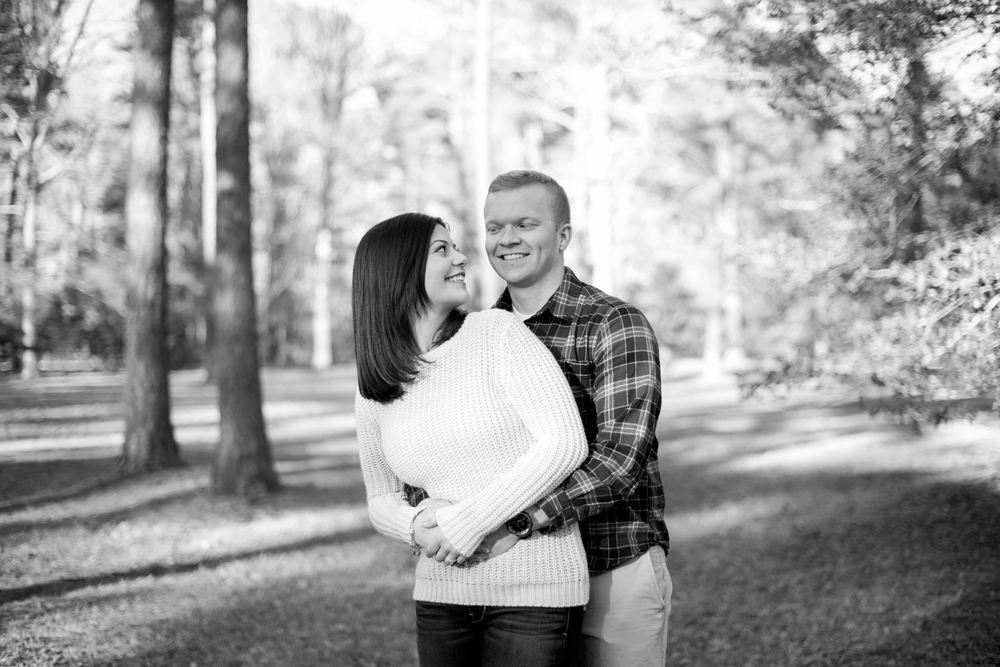 Natural posing for couples (black and white)