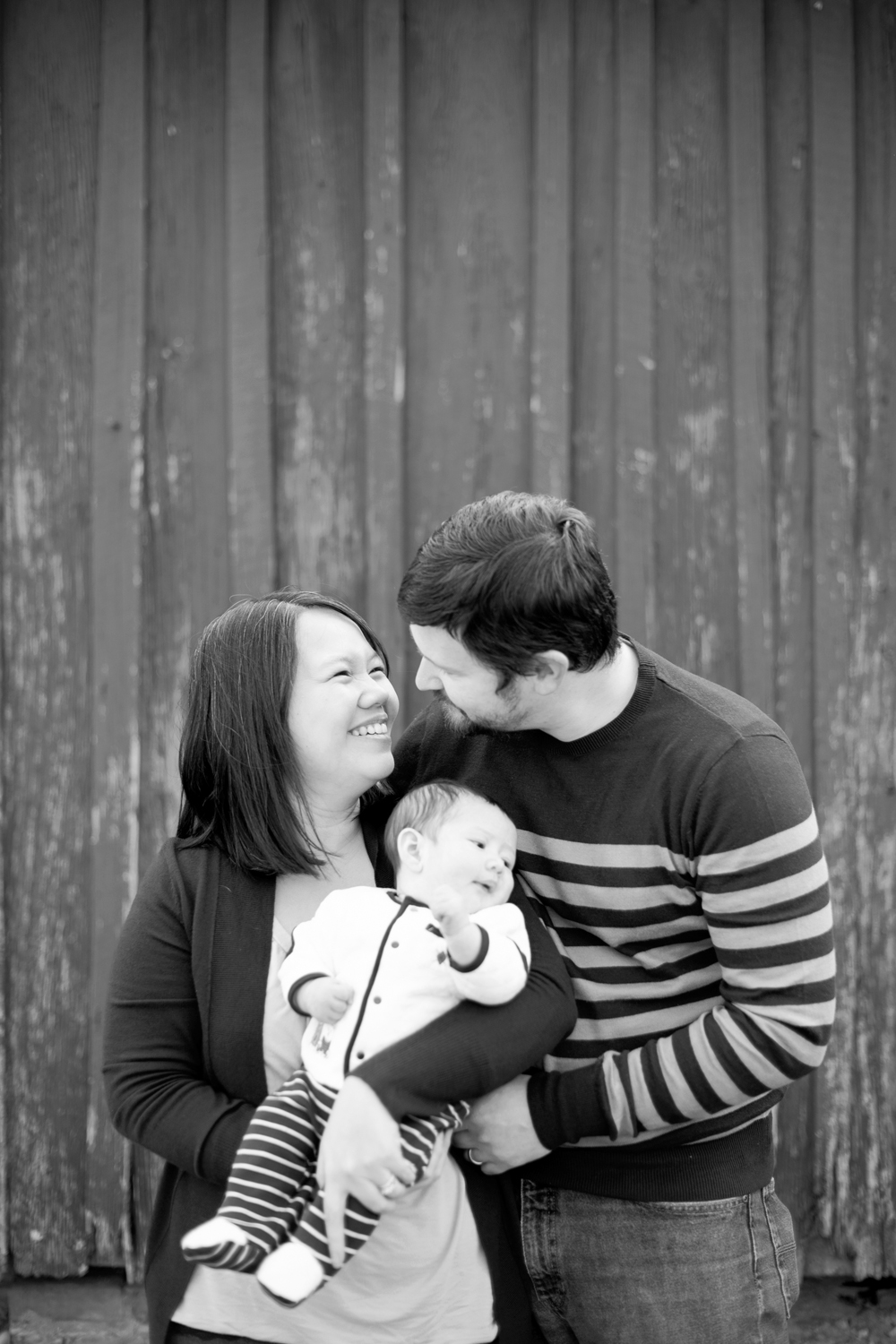 Posing ideas for couple with a baby