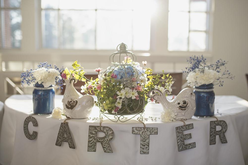 Wedding reception details | New last name | Birdhouse theme