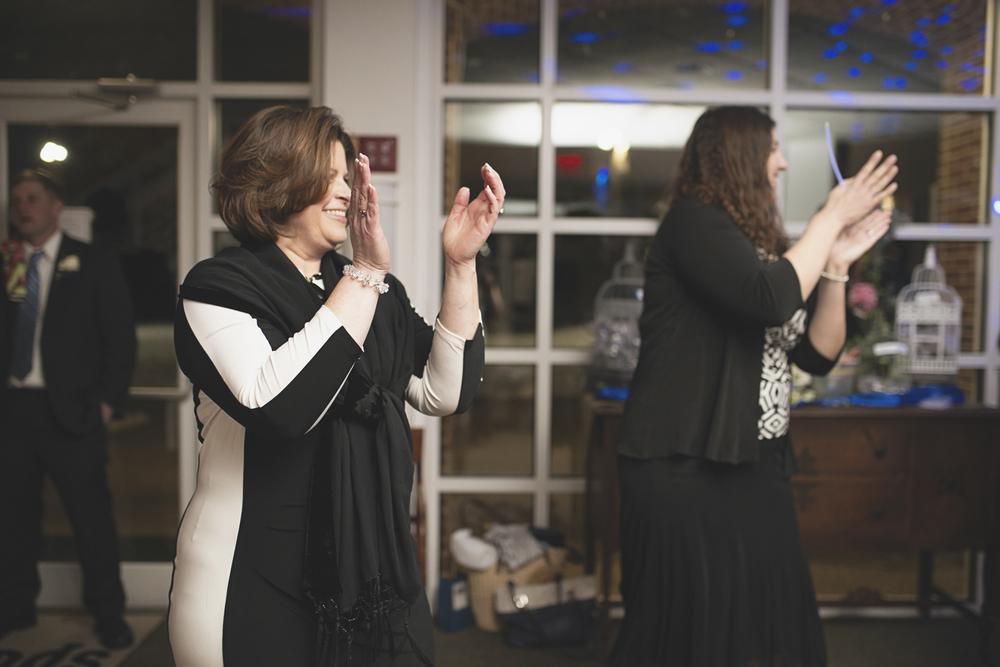 Wedding guests dancing | Winter wedding reception