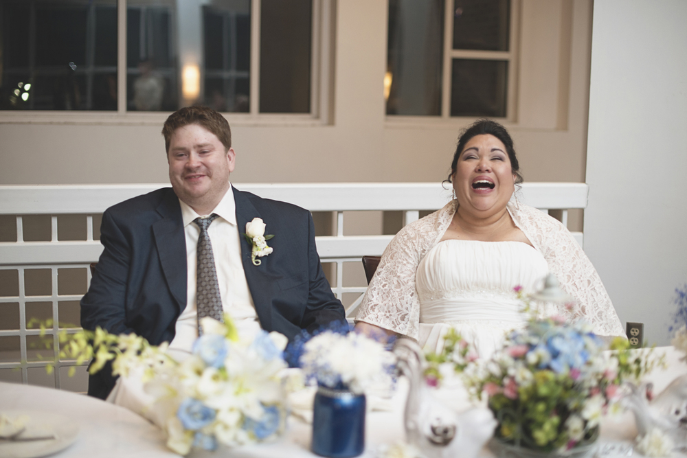 Photojournalistic wedding reception | real laughter