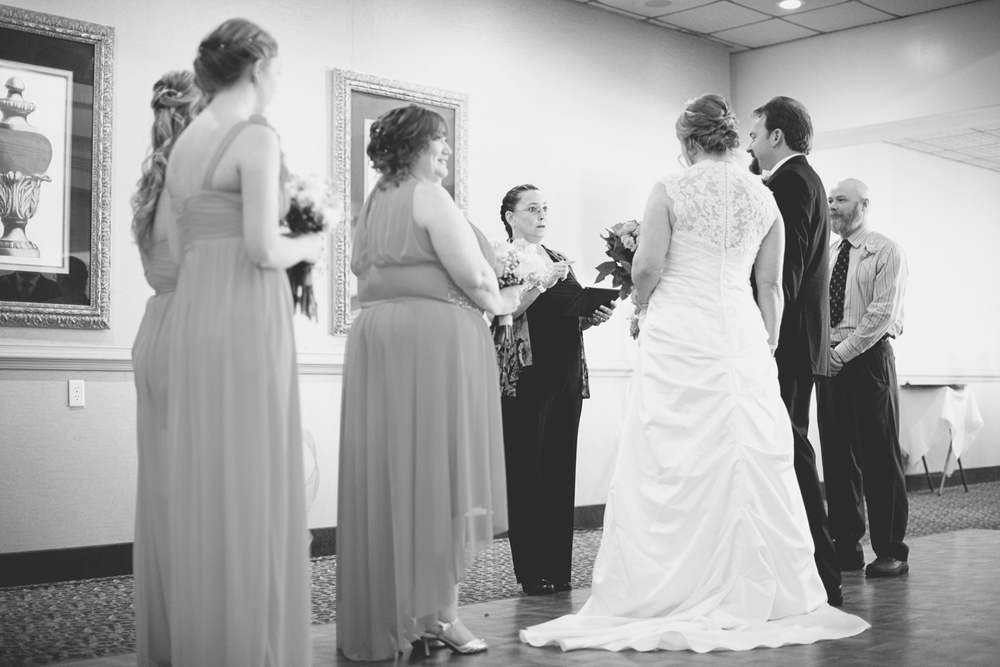 Wedding ceremony | Military wedding | Black and white