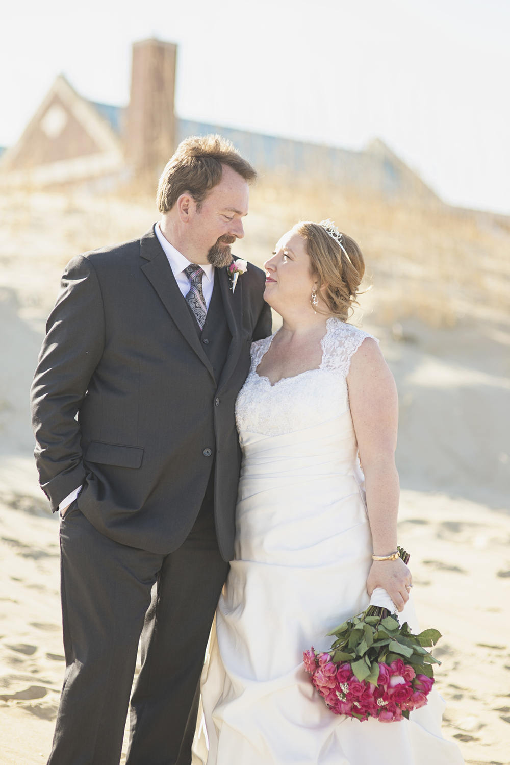 Beach bride & groom portraits | Virginia Beach wedding