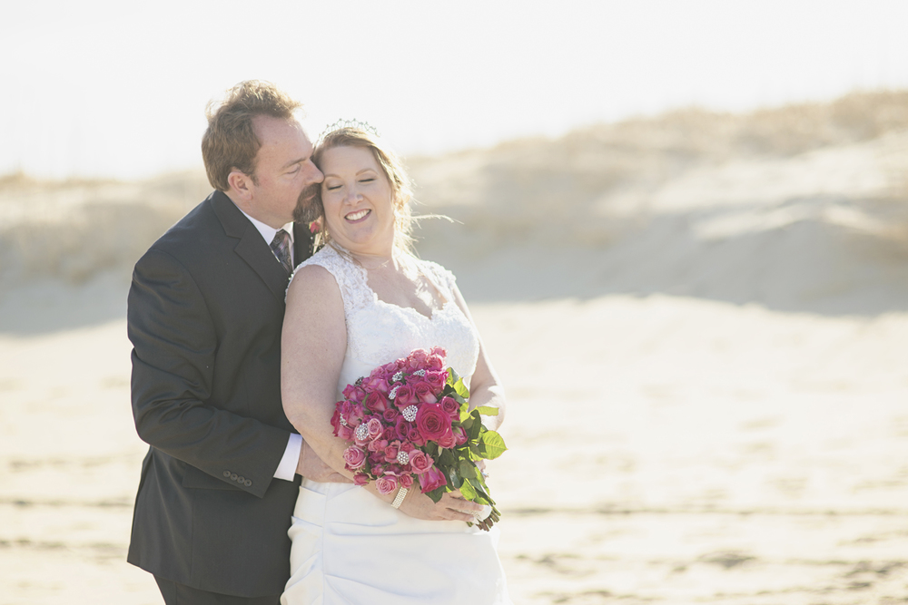 Beach bride and groom portraits | Virginia Beach wedding