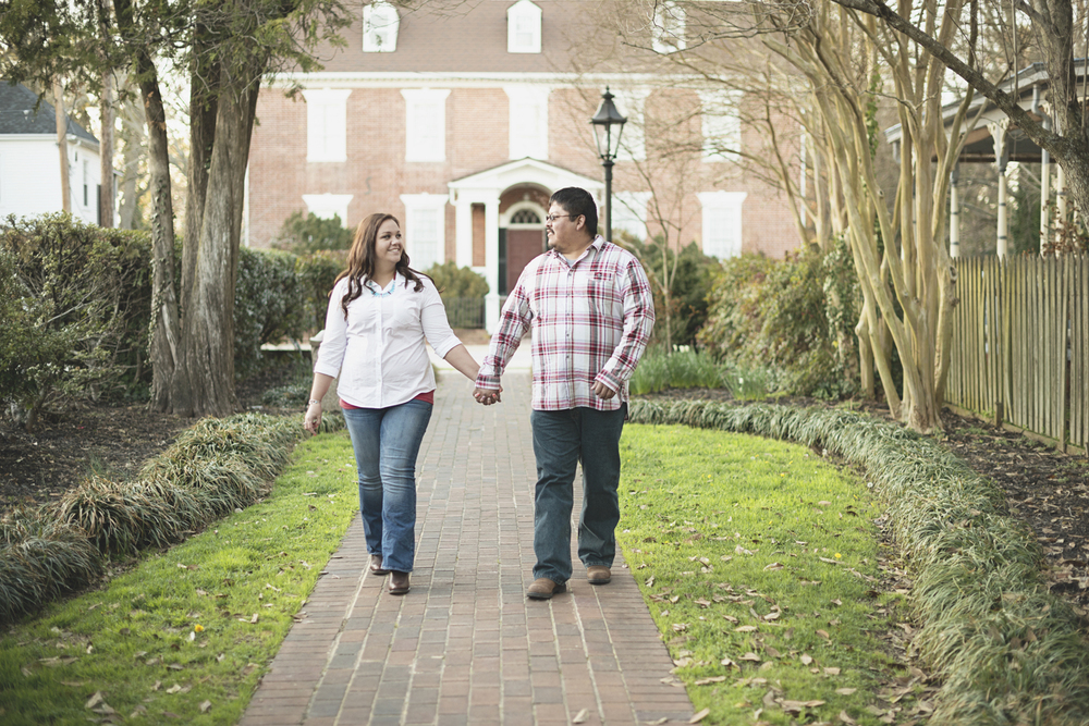 Natural engagement picture poses | Walking hand in hand