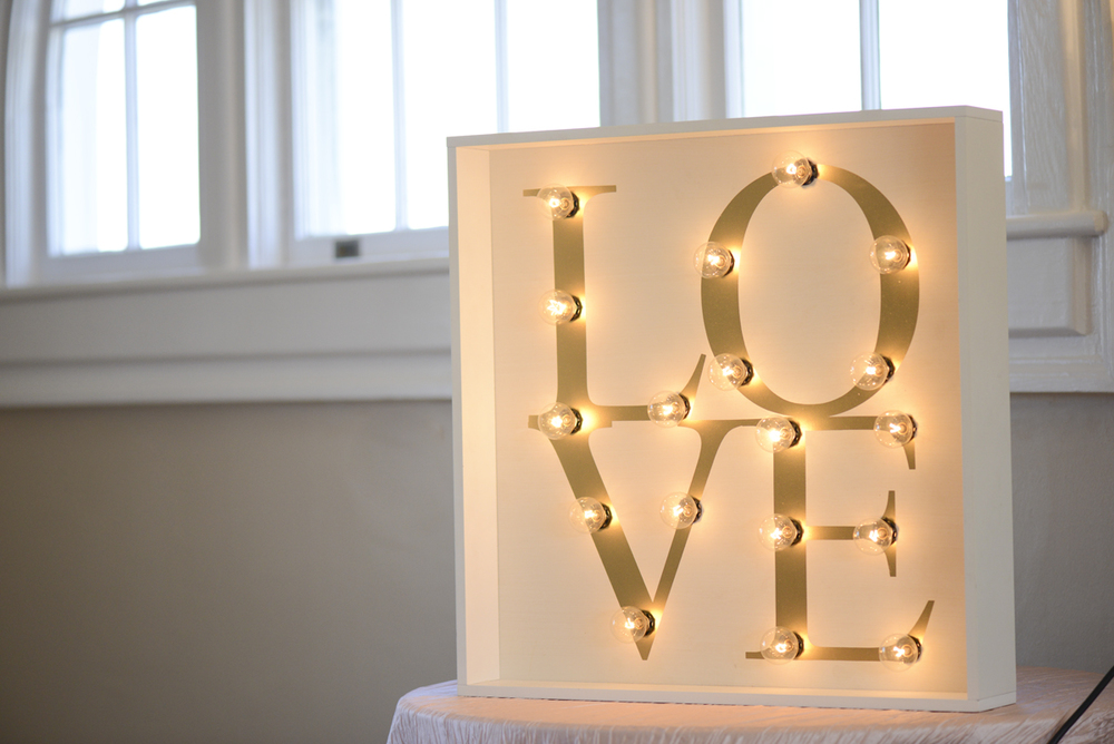 LED Lit Love Sign for Weddings