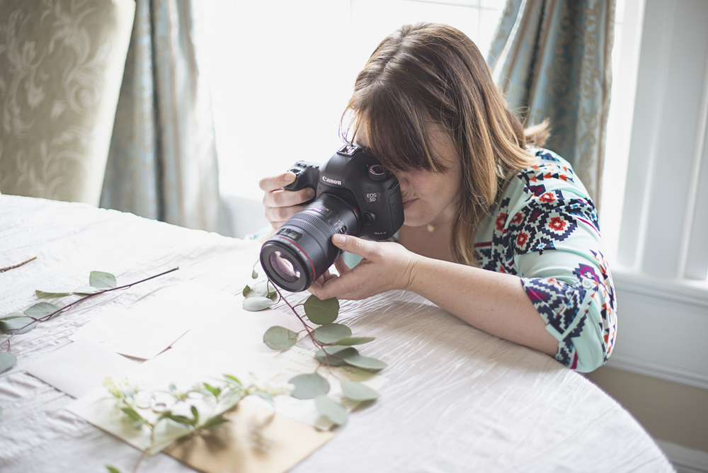 Photographer capturing bridal details | Macro ring shot