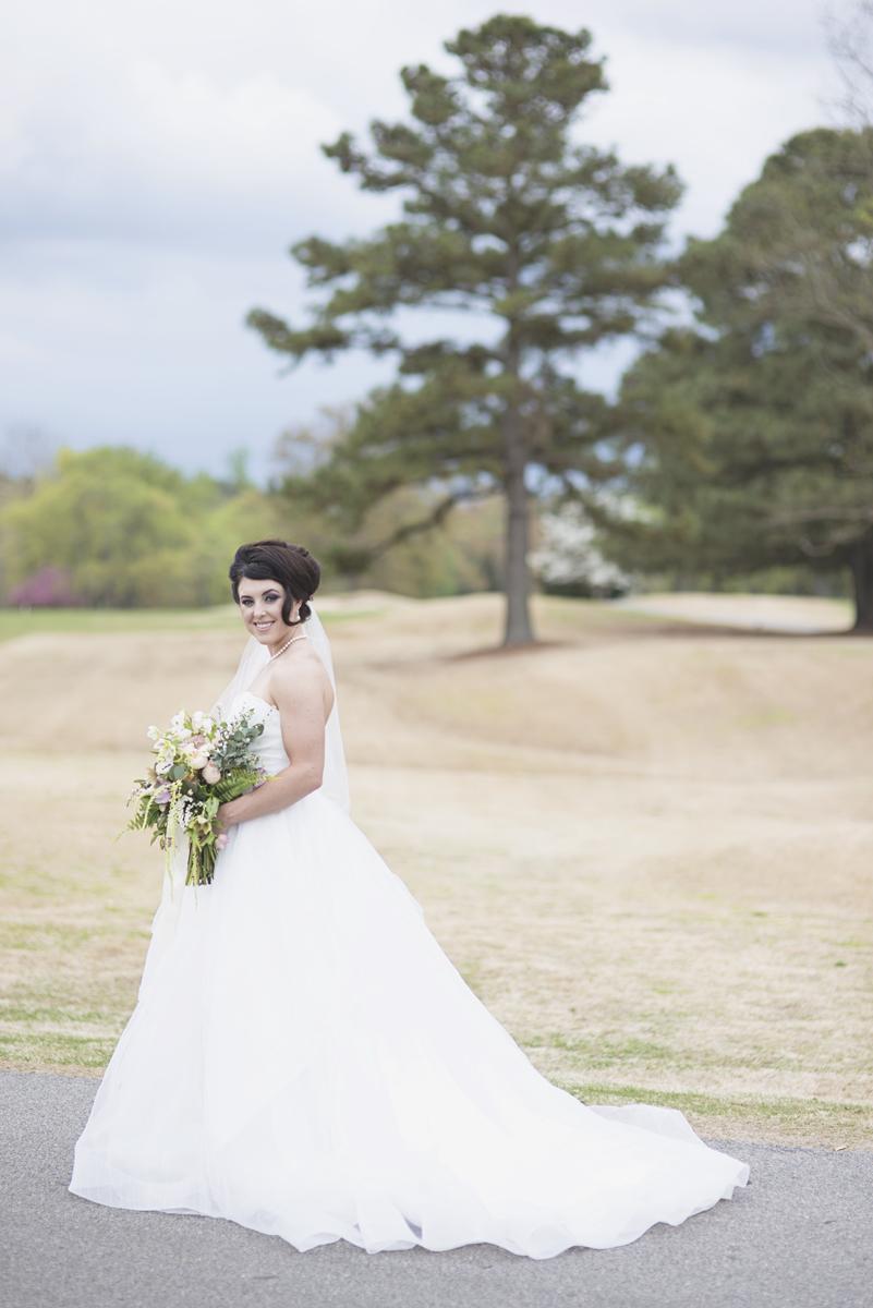 Classic bridal portrait pose