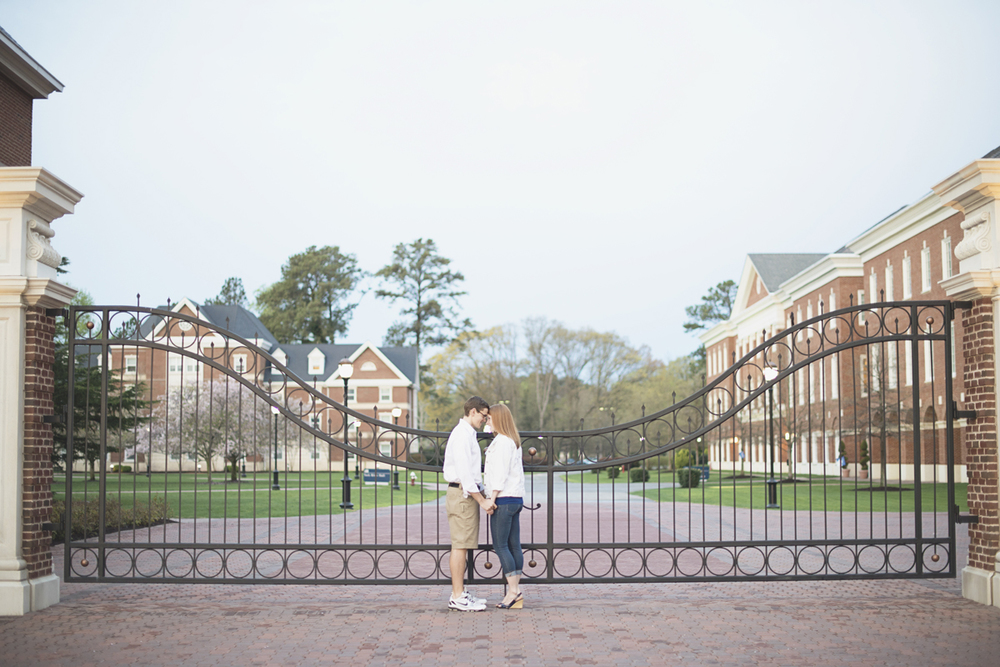 Sunrise engagement session | College campus engagement session