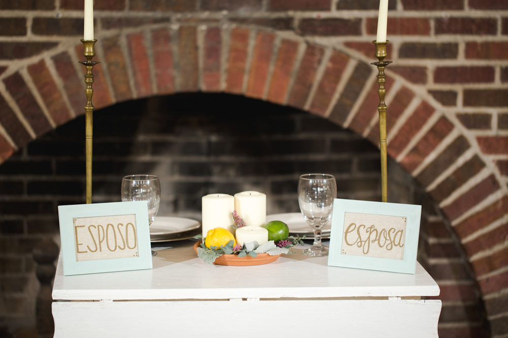 Cinco de Mayo Styled Shoot | Brick fireplace wedding