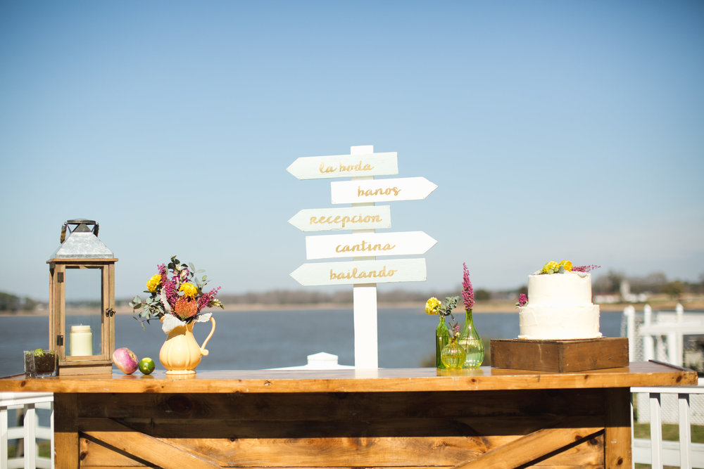 Cinco de Mayo Themed Wedding | Reception details & wedding signage