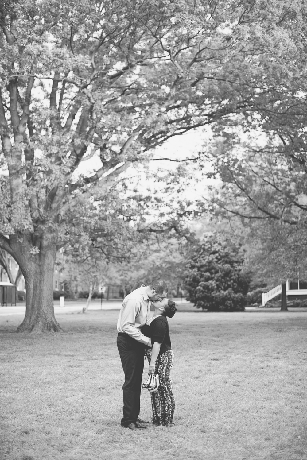 Spring engagement photo inspiration black and white