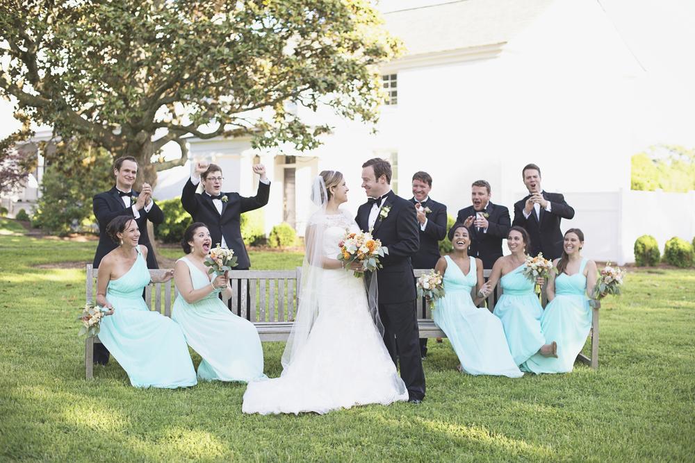 Inn at Warner Hall Wedding Photography | Wedding party