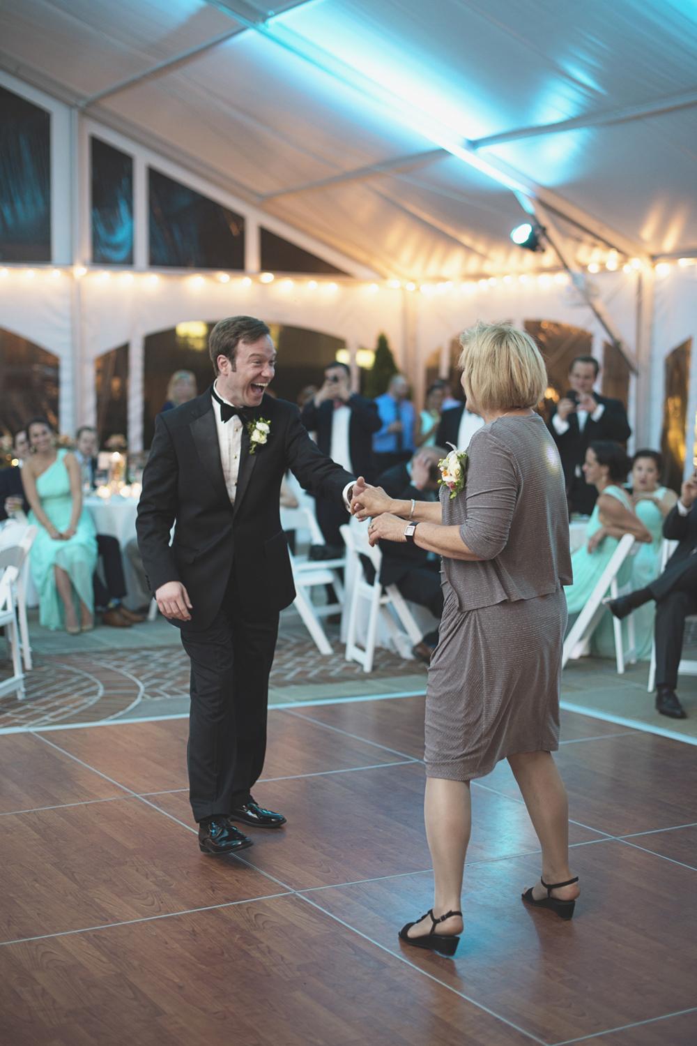 Inn at Warner Hall Wedding Photography | Reception guests dancing