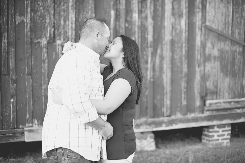 Windsor Castle Park Engagement Session in Smithfield, Virginia | Red barns