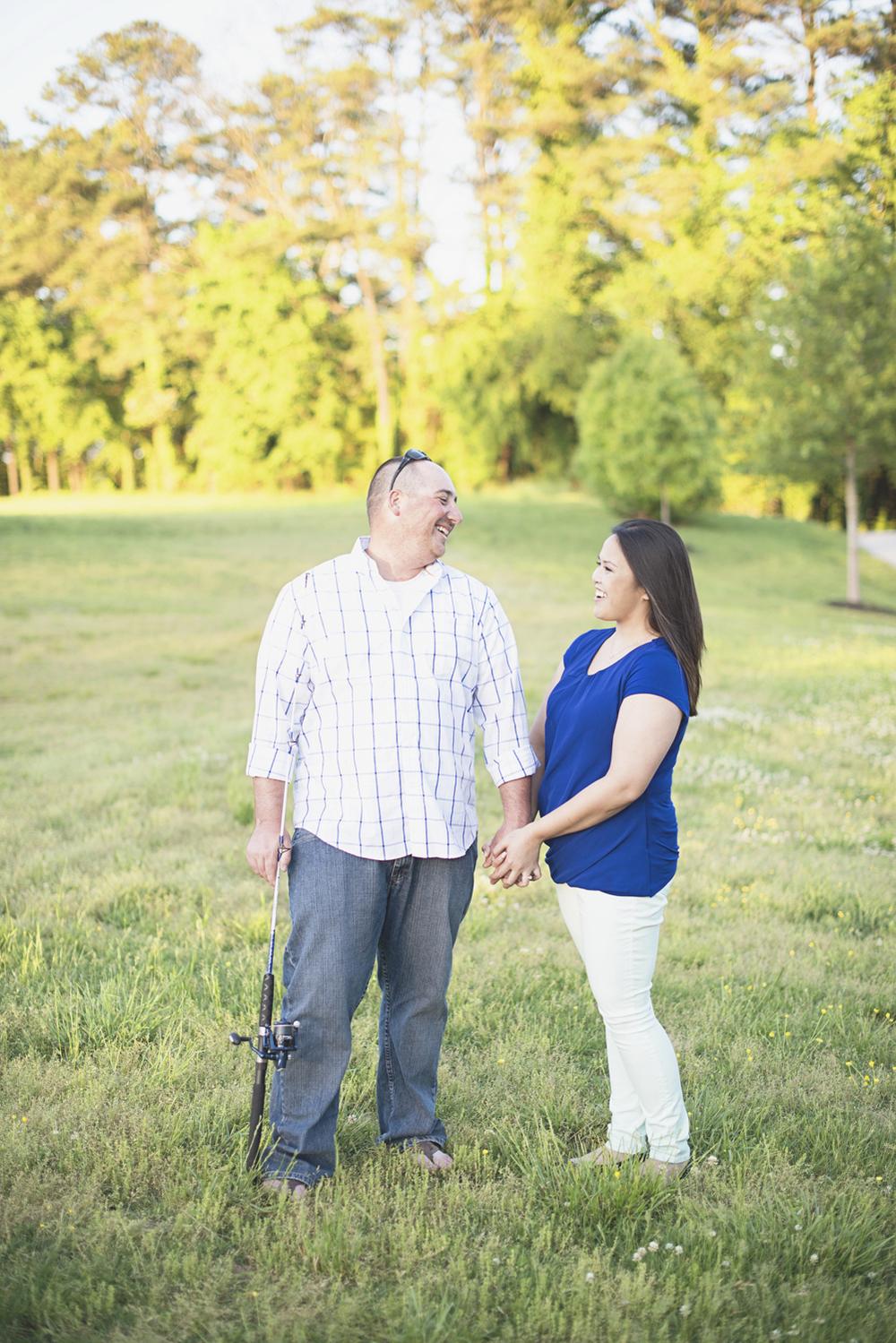 Windsor Castle Park Engagement Session in Smithfield, Virginia | Fishing pole