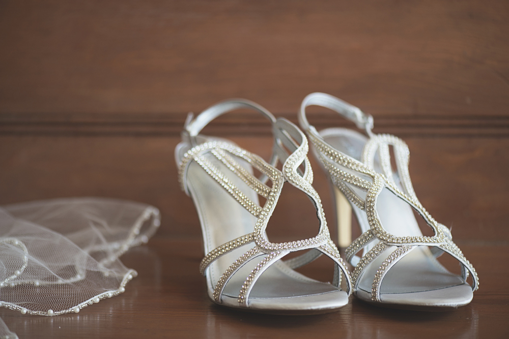Tabernacle UMC Wedding in Poquoson, Virginia | Wedding shoes