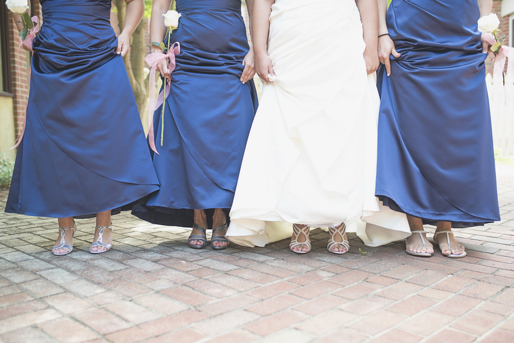 Tabernacle UMC Wedding in Poquoson, Virginia |  Bridesmaids shoes