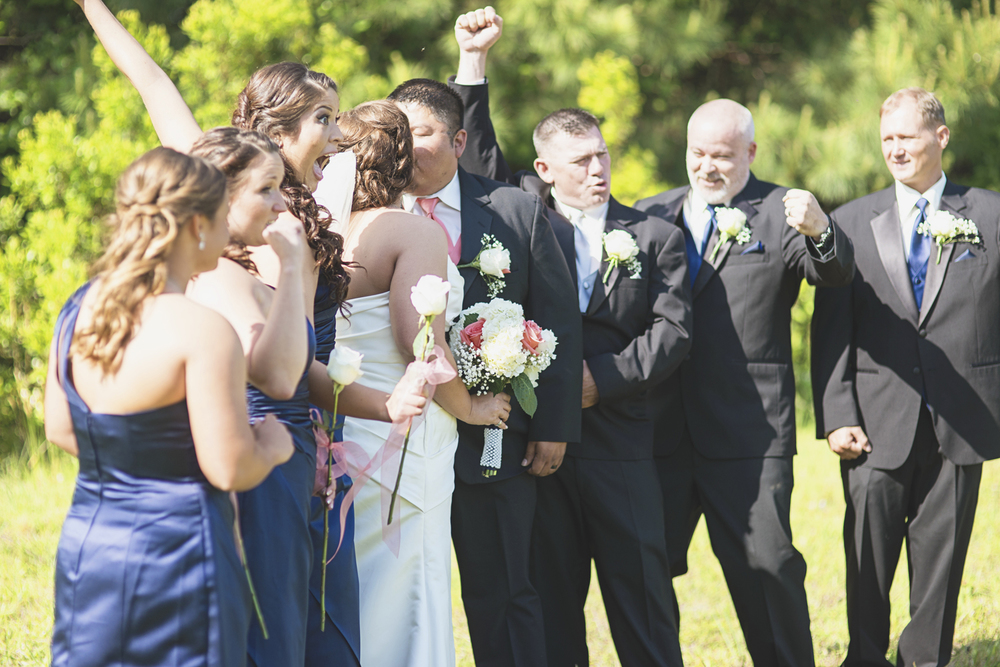 Tabernacle UMC Wedding in Poquoson, Virginia |  Bridal party