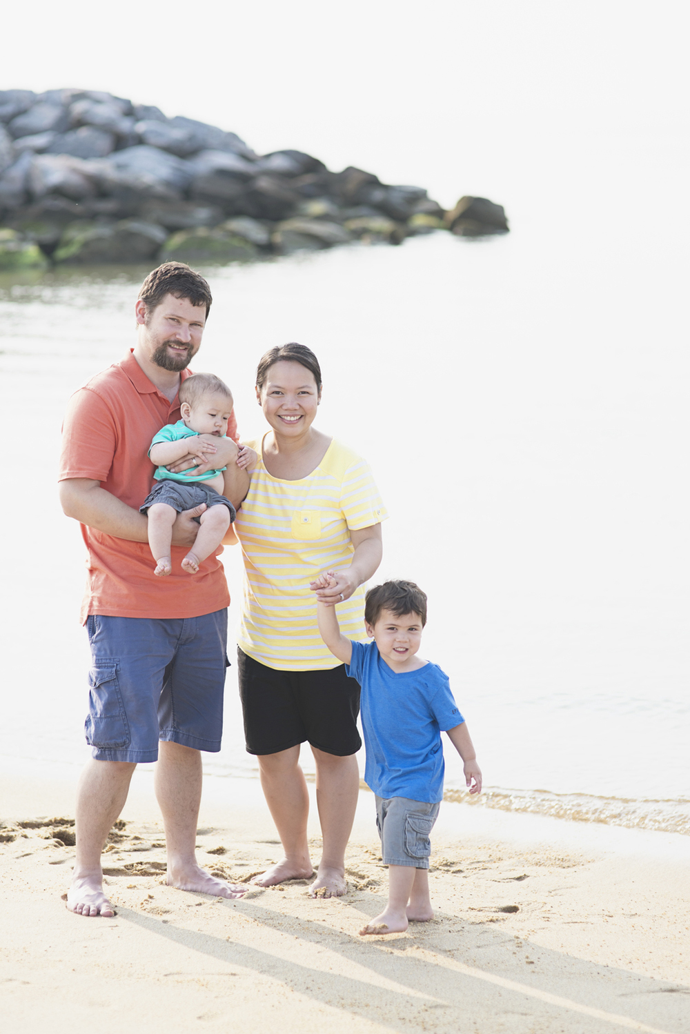 Fort Monroe in Hampton, Virginia | Family of four portrait session