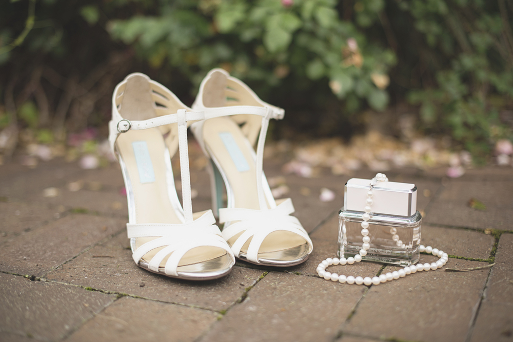 Mariners Museum Wedding | Newport News, Virginia |  Wedding shoes, jewelry, and perfume