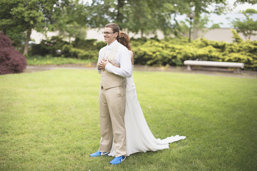Mariners Museum Wedding | Newport News, Virginia |  Bride & groom first look portraits