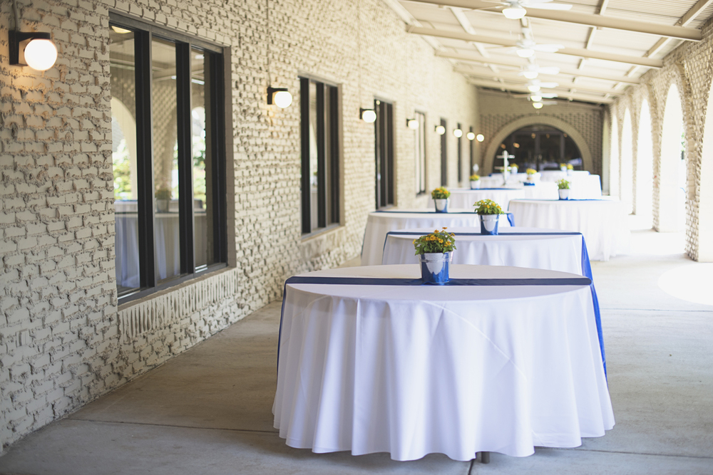 Mariners Museum Wedding | Newport News, Virginia |  Royal blue and yellow wedding reception